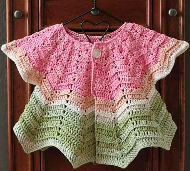 Quick, Simple And Really Cute Baby Ripple Cardigan [Free ...