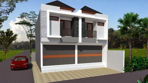 desain ruko minimalis 2 lantai | desain rumah, rumah