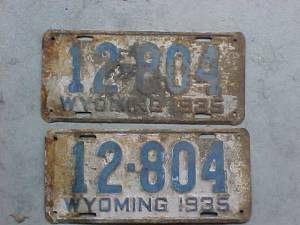 1935 Wyoming License Plates   Wyoming, License plate ...
