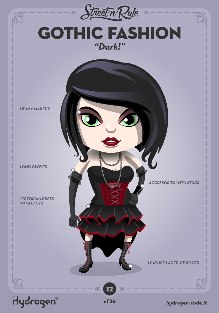 Gothic female Character by Hydrogen
