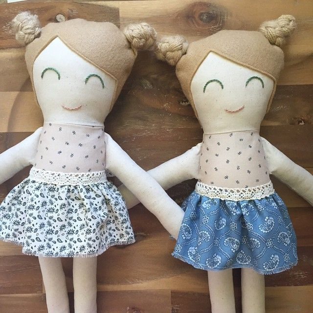 Little ones ready for their new homes  #aliceandbilly fabric doll - toys - children - cloth doll