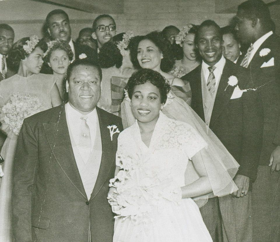 Vintage Wedding Dresses Chicago: 1950′s Chicago African American Couple's Wedding. Vintage