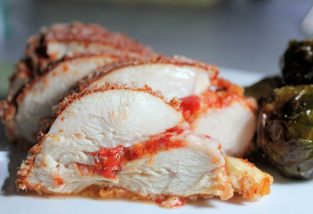 Roasted Red Pepper Stuffed Chicken Breasts