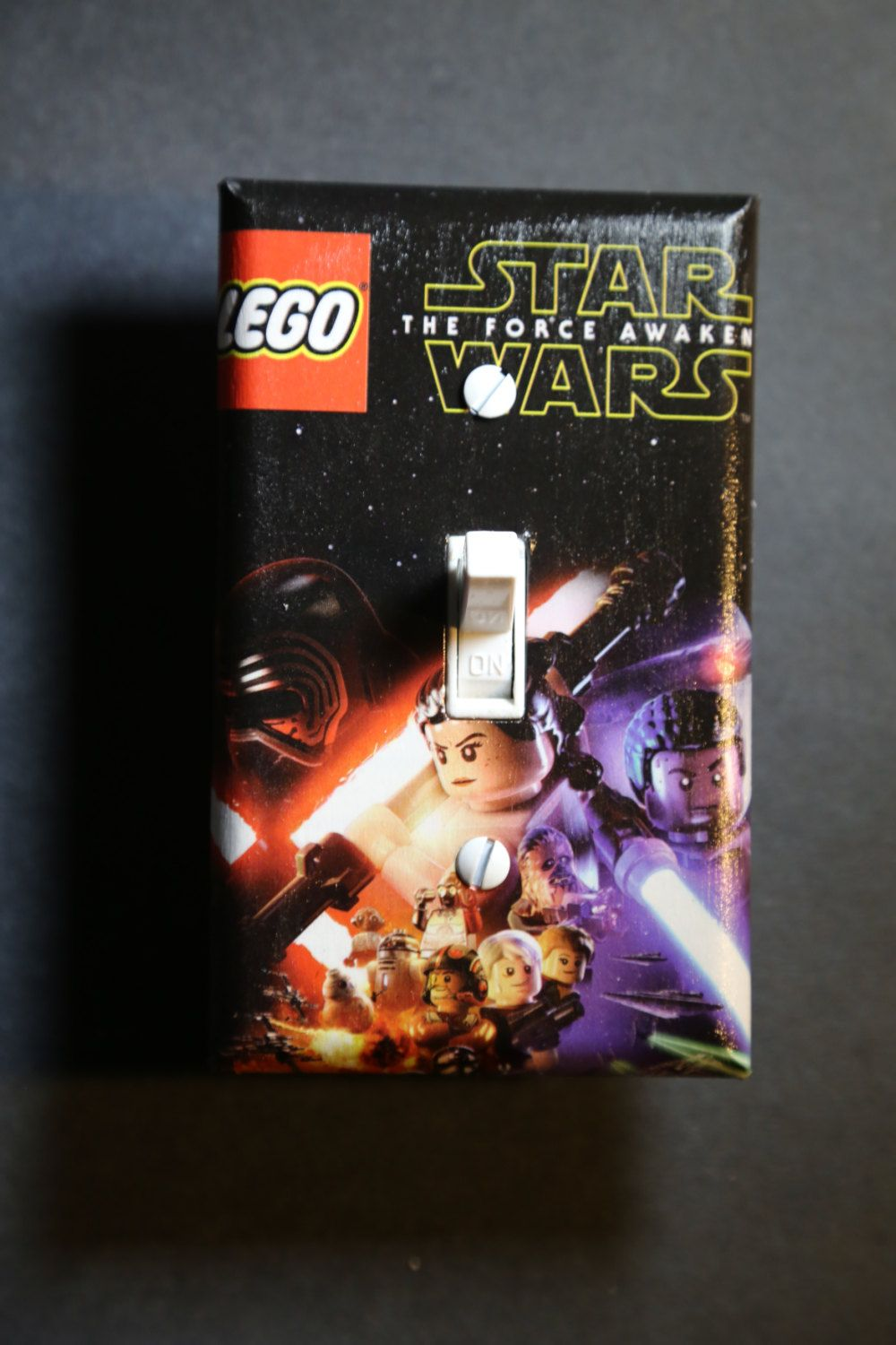 Lego Star Wars Force Awakens Light Switch Cover Comic Book Boys