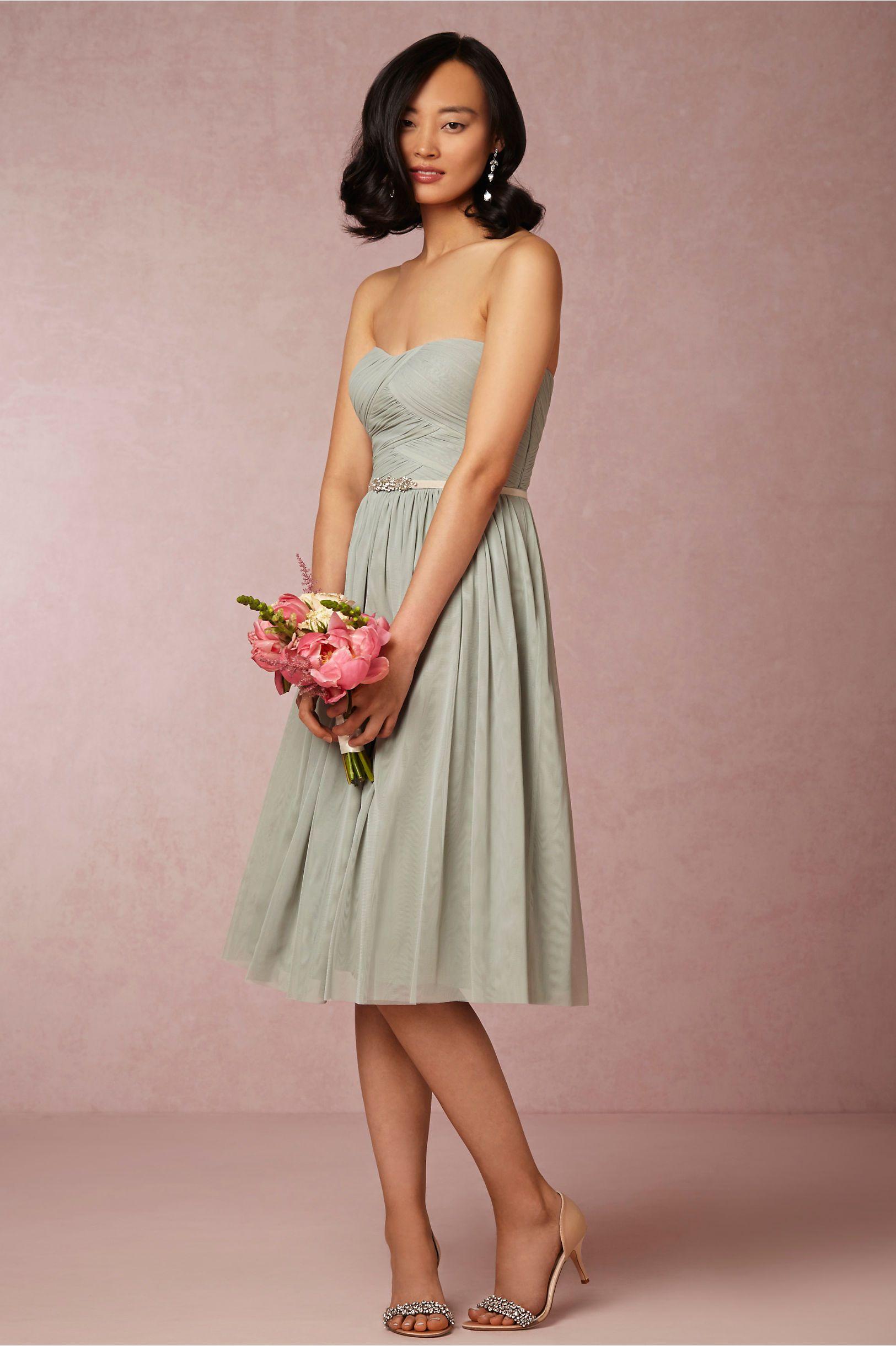 Cordelia Bridesmaids Dress In Sea Gl From Bhldn