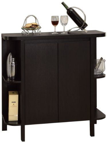 Monarch Specialties Cappuccino Finish Bar Cabinet ** Click image to review more details.