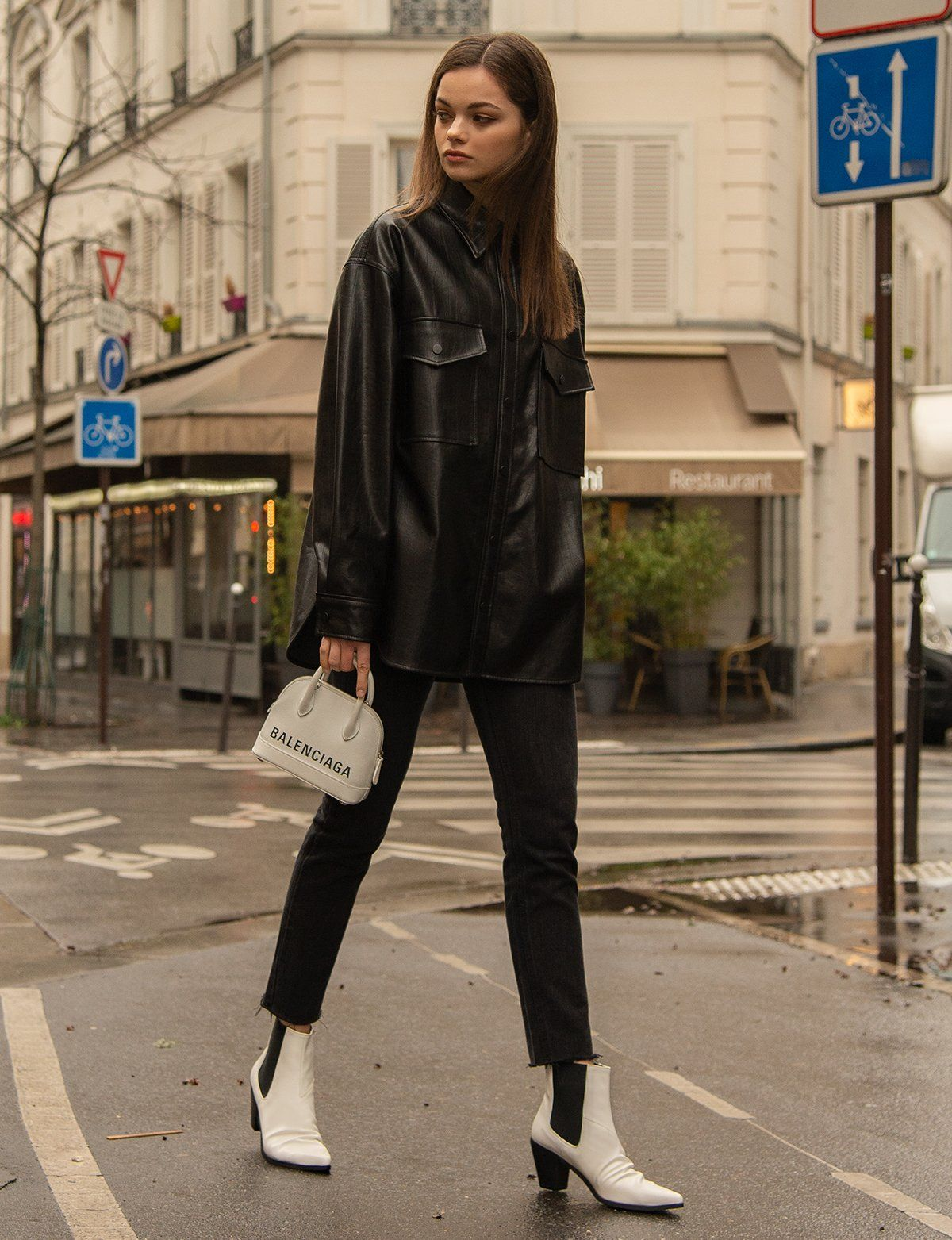 Black Vegan Leather Shirt   Leather shirt, Leather shirt outfit, Fashion