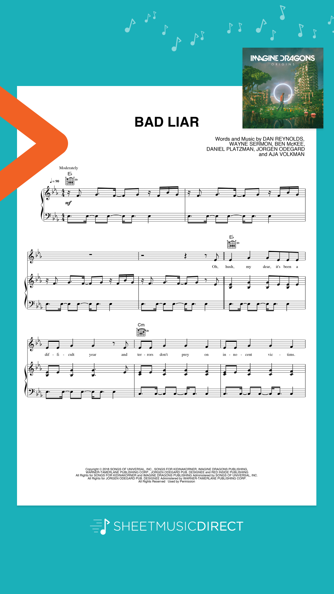 Download and play official Imagine Dragons sheet music
