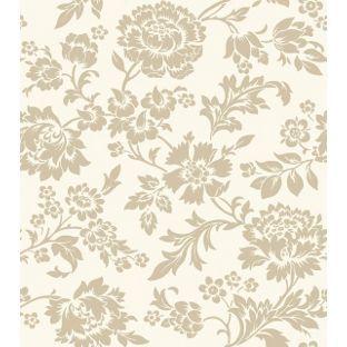 Felicity Wallpaper Cream and Gold from Homebasecouk Main