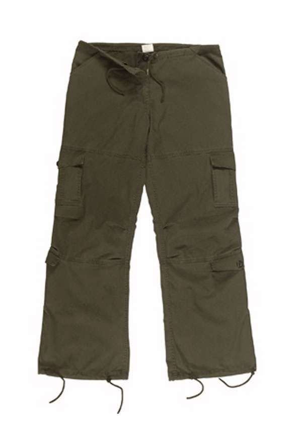 Womens Olive Drab Vintage Paratrooper Fatigues Cargo Pants Women 0025ef59a0a
