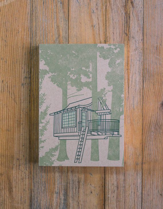 Treehouse Notebook/Sketchbook  Upper Pond by constellationco, $22.00