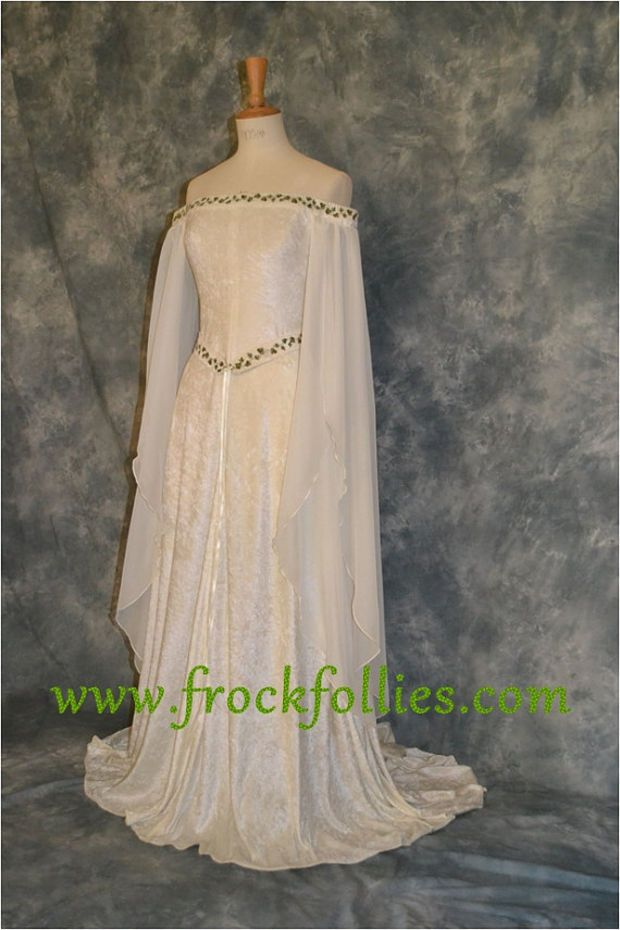 Medieval Dress, Elvish Wedding Dress, Handfasting Dress, Elvish Gown ...