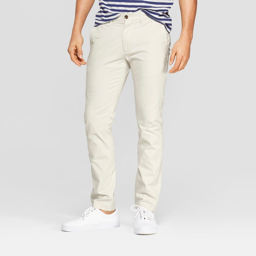 7217756731b9 Men's 34 Regular Slim Fit Hennepin Chino Pants - Goodfellow & Co Stone  Hearth 30x32, White