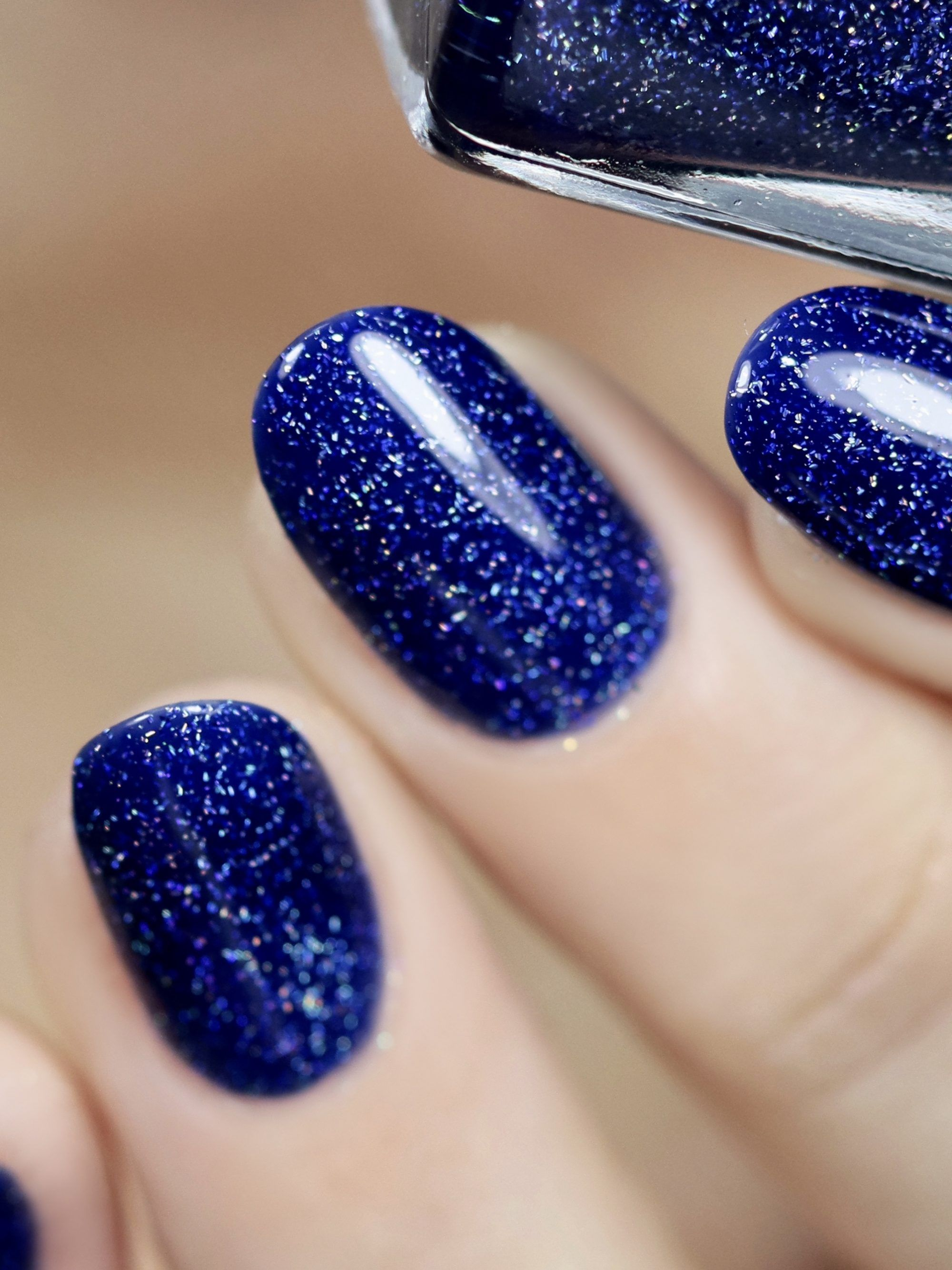 set sail navy blue holographic jelly nail polish by ilnp in 2020 blue glitter nails blue gel nails navy blue nails pinterest