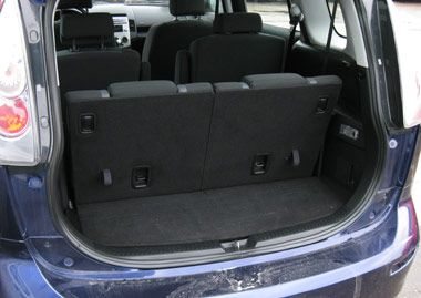 2006 Mazda 5 Third Row Seats Up Mini Van Mazda Fuel Economy