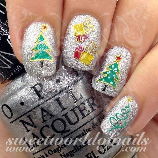 Christmas Tree Nail Art Stickers Httpssweetworldofnails