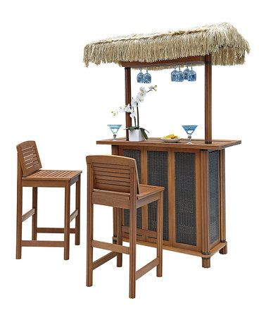 Look at this #zulilyfind! Bali Hai Three-Piece Tiki Bar Set #zulilyfinds