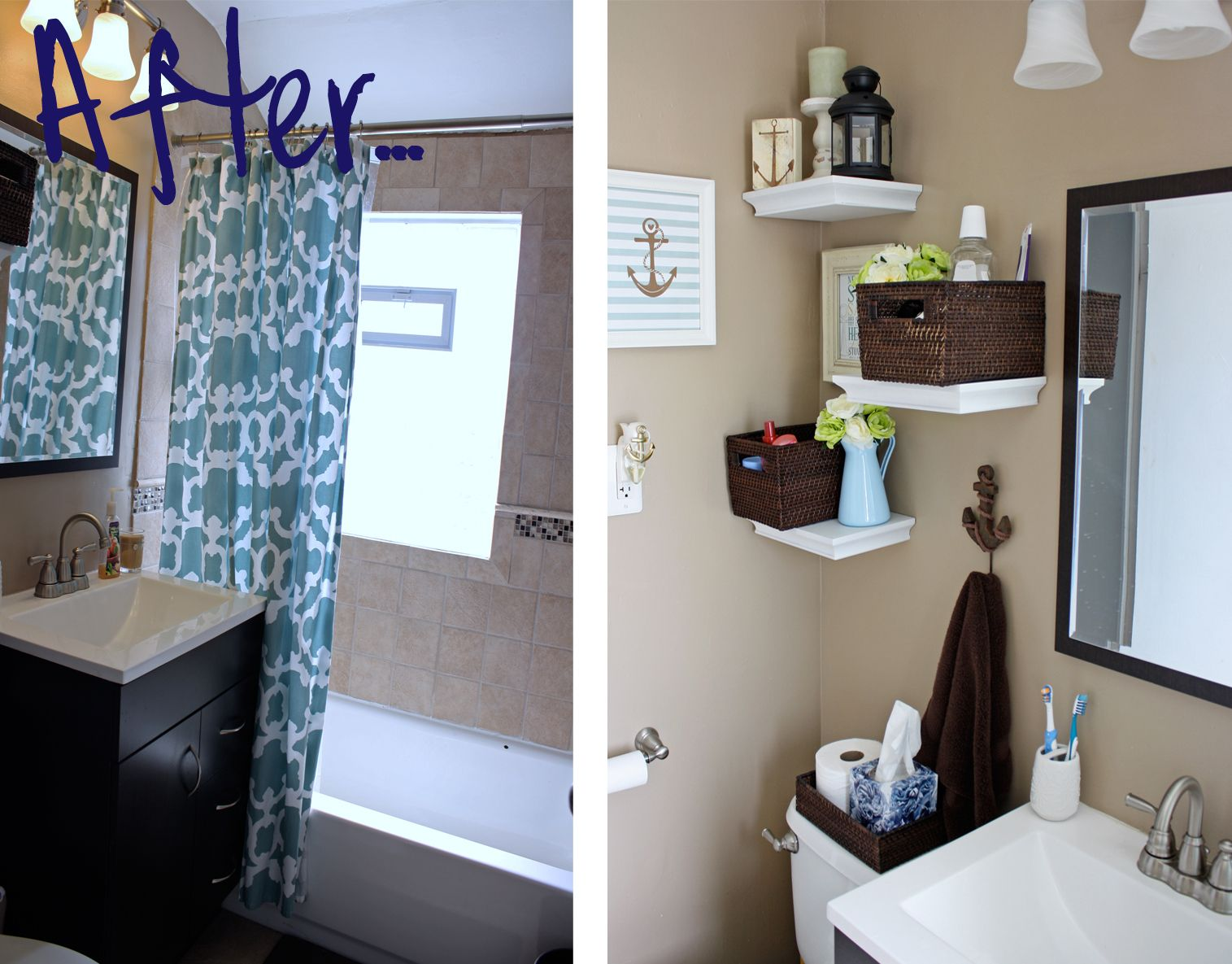 bathroom decorating ideas blue and brown bathroom decor blue rh pinterest com