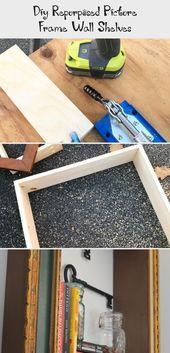 #DIY #Frame #Picture #Repurposed #shelves #shutters repurpos…