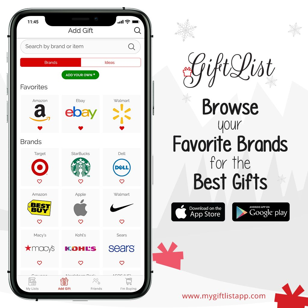 Browse Your Favorite Brands Best Gifts Gift List App Cool Things To Buy