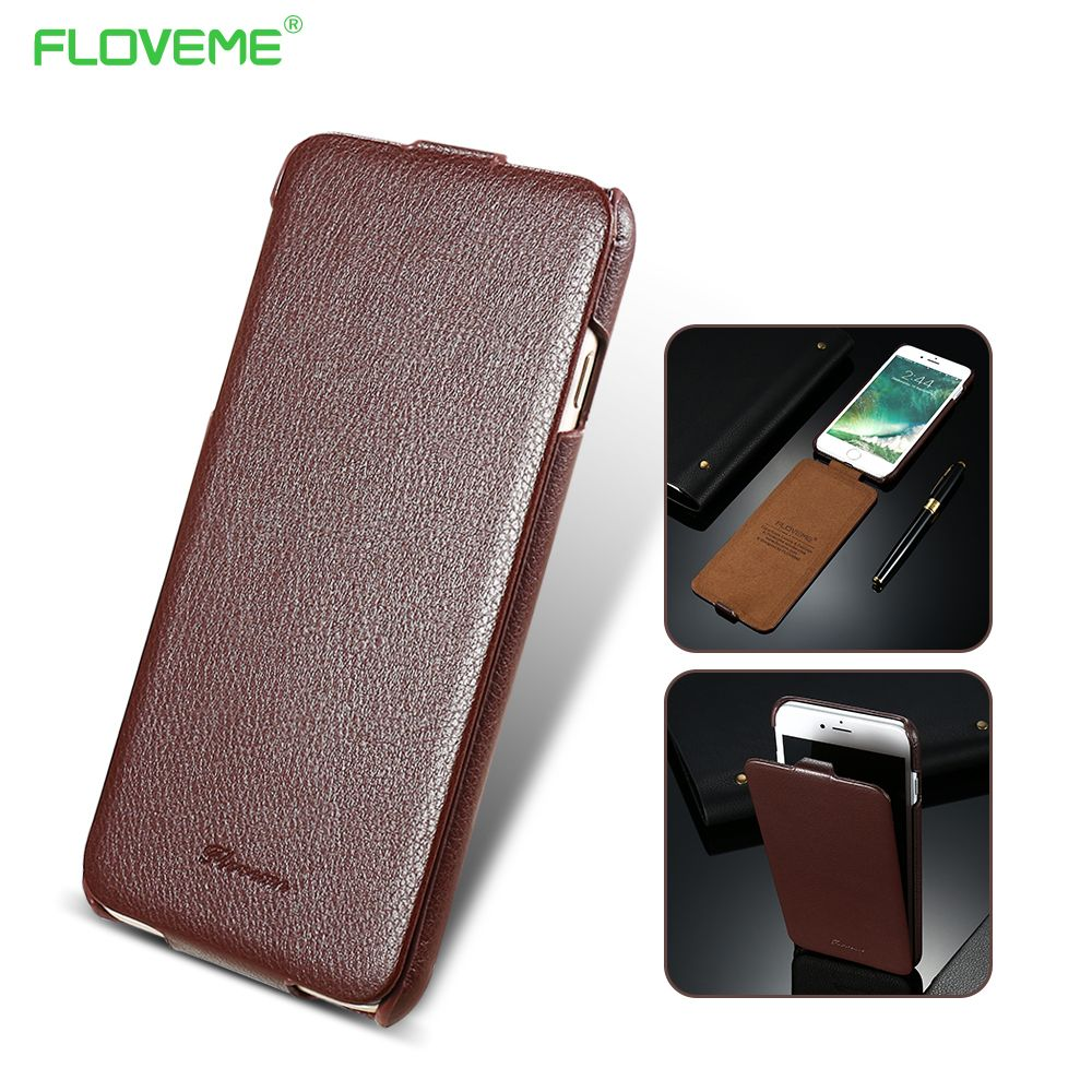 best sneakers 3c915 b1310 Litchi Grain Leather Case For iPhone 7 7 Plus Vertical Flip Cover ...