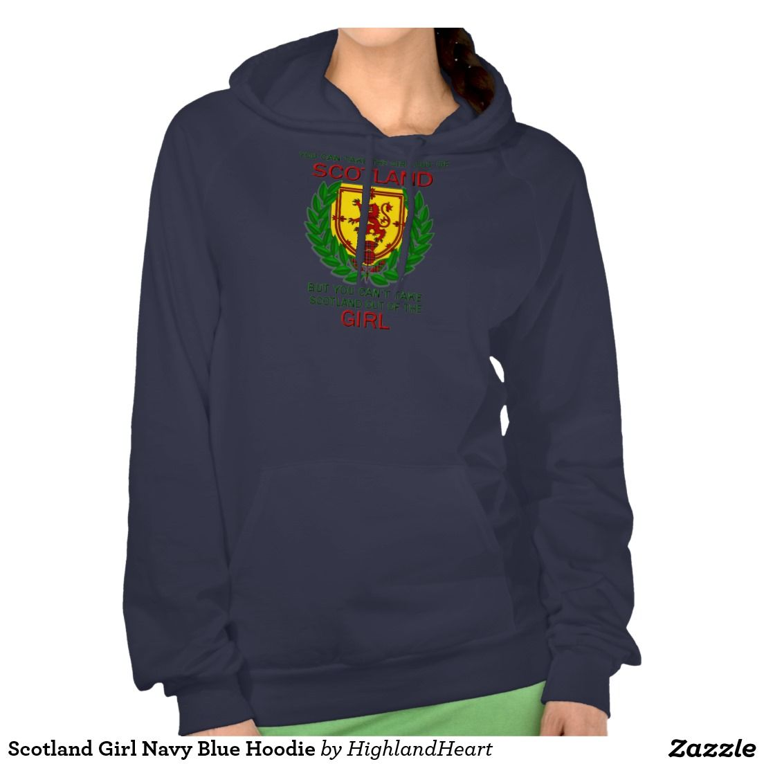 Scotland Girl Navy Blue Hoodie
