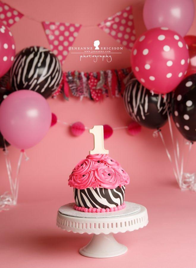 N is one Santa Rosa Cake Smash Photographer hot pink zebra giant