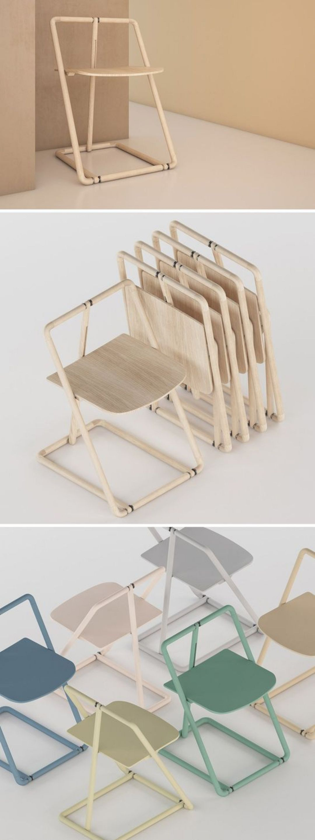 16 Clever Folding Chair Designs is part of Chair design - The folding chair is kind of favorite chair because it is a flexible chair that you move easily  It is different from another kind of chair, the folding chair comes with a unique design  Some of them