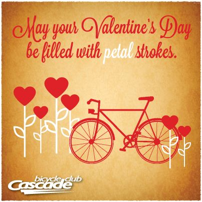May Your Valentine S Day Be Filled With Petal Strokes Bicycle Valentine Valentines Shop Valentines Cycling Memes