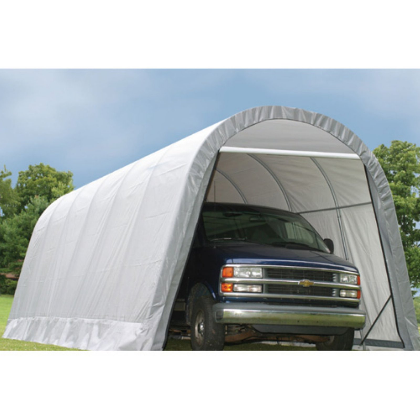 ShelterLogic 12 x 28 x 10 ft. Round Top Canopy Carport