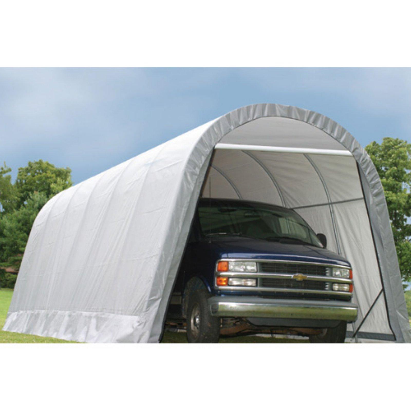 ShelterLogic 12 x 28 x 10 ft. Round Top Canopy Carport