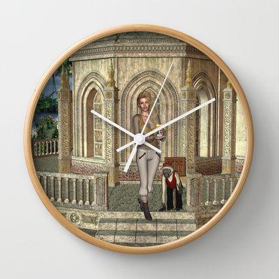 Caribbean Princess Tropical Paradise Wall Clock by apgme - $30.00