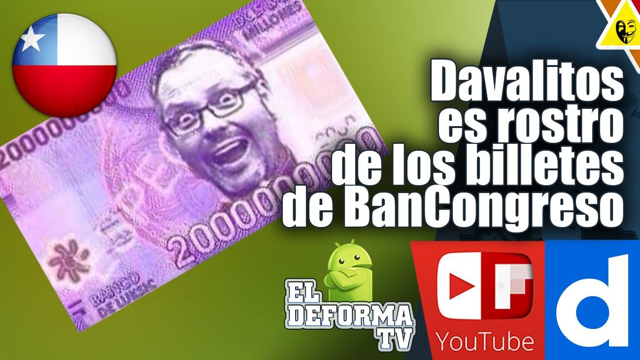Davalitos es rostro de los billetes de BanCongreso