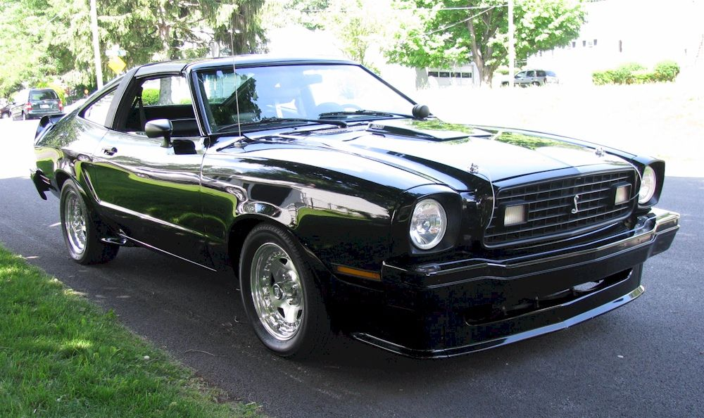 Black 1978 Ford Mustang Ii King Cobra Hatchback Mustangattitude