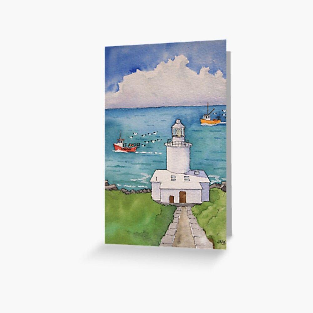 Tata Du Lighthouse. Greeting Card by John Ray