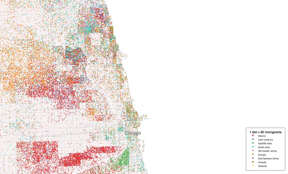 Racial Dot Map Of Chicago Maps Pinterest