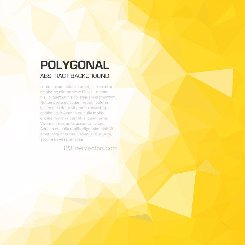 Polygonal Yellow Wallpaper Background Yellow Wallpaper Free Vector Backgrounds Background Images Hd