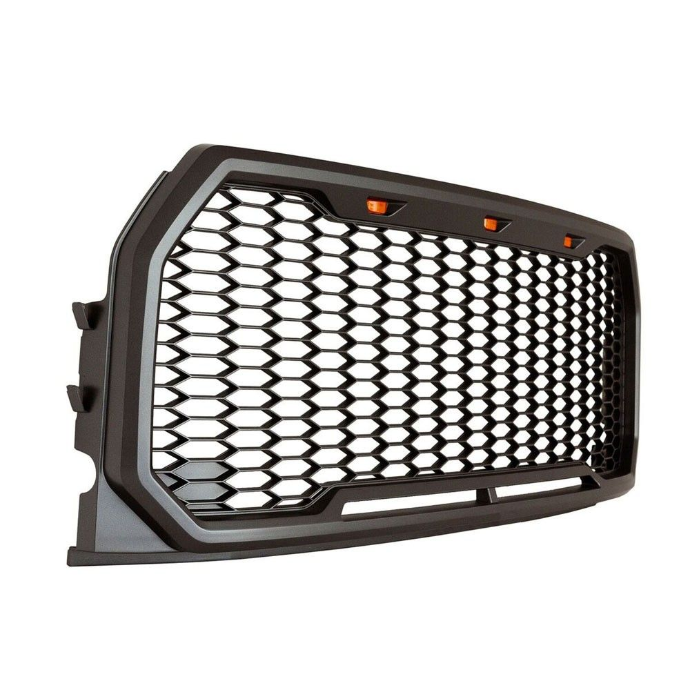 Mesh Grille Charcoal Abs With 2017 Raptor Style Led Lights F 150 Wiring Harness Nz 2015