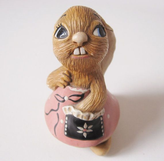 Lucy Pocket with Black Pocket Pendelfin Rabbit by TheHiddenGrove
