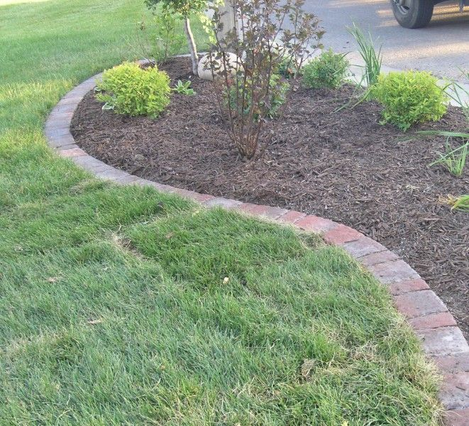 Landscaping Border Ideas To Entry Concrete Paver Landscape