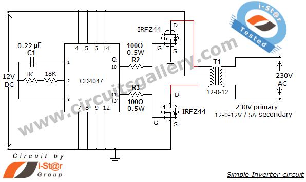 5w Simple Inverter Circuit Diagram - Wiring Diagram Filter