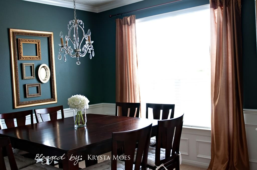 Balance A Darker Paint Color In Your Dining Room With Lighter Accents And An Abundance Of Natural Ligh Dinning Room Colors Dining Room Paint Colors Room Design