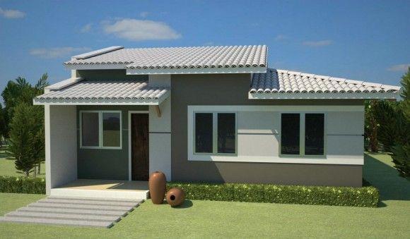 fachadas de casas simples Diseño de interiores Decoraciones para