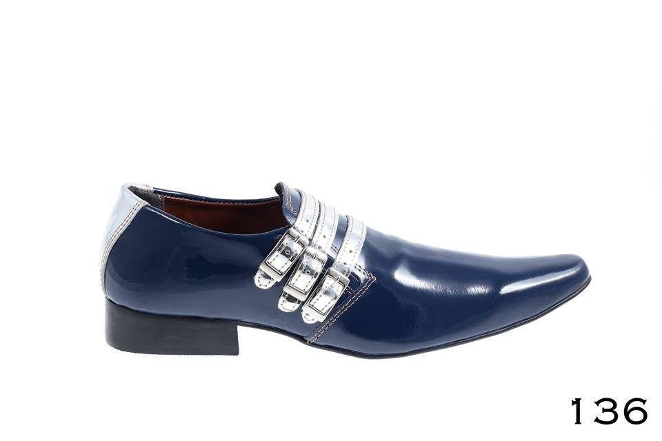 83e96df25 136-Verniz-azul-com-prata | Sapatos masculinos, femininos e infantis ...