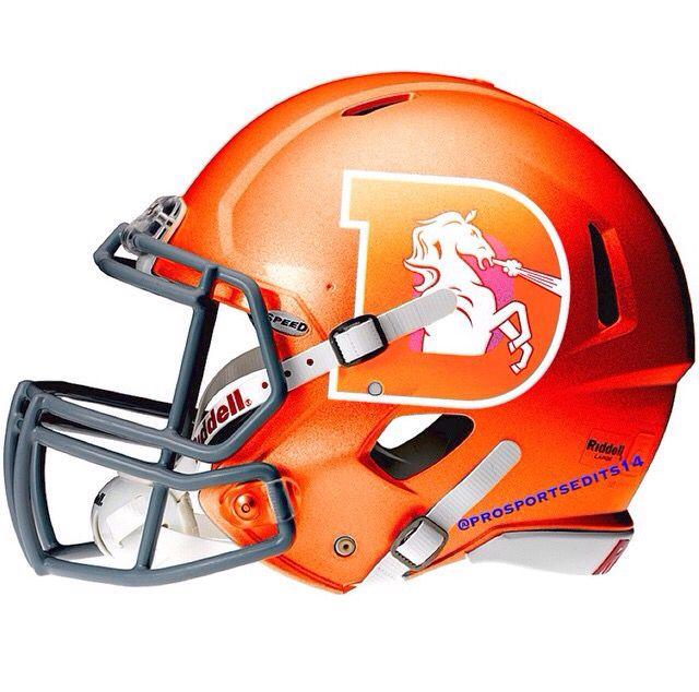 reputable site d0ea4 96c6c Denver Broncos Orange NFL concept design football helmet ...