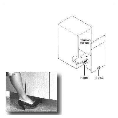 Foot Pedal Door Opener For Pull Out Door Use The Spring To