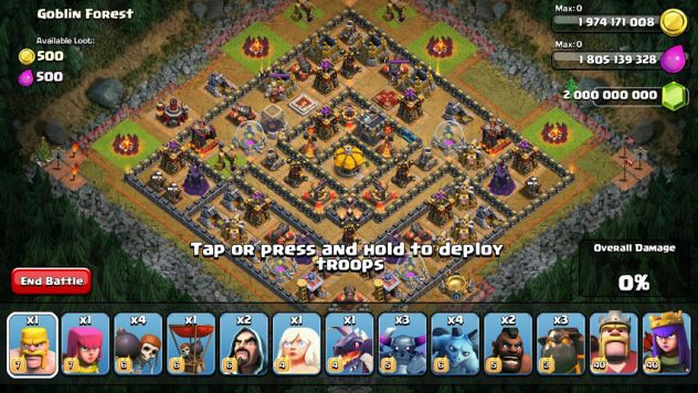 get free coins and gems in clash of clans
