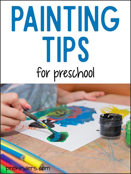 Painting Tips for Preschool Teachers