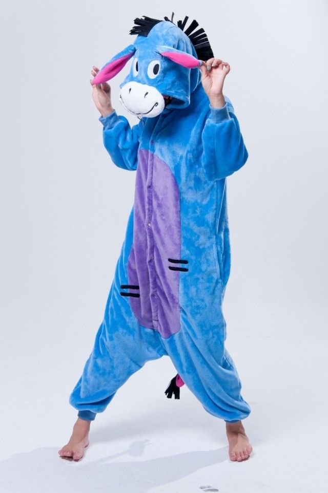 1ca7e60eda4 Adult Donkey Kigurumi Pajamas Animal Sleepcoat. I could really fall in love  with this little guy! He looks like just the thing for dorm living.