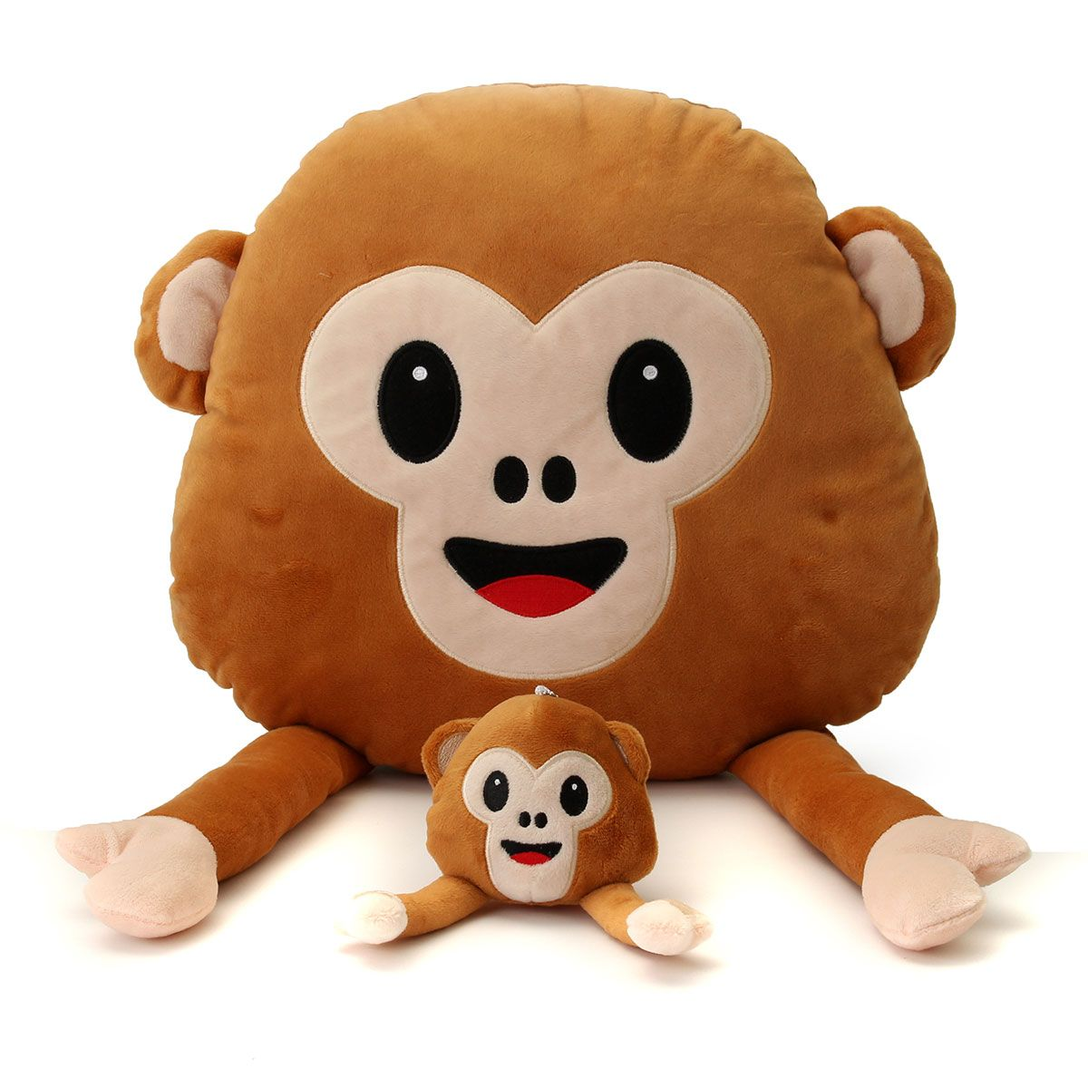 Car hanging soft toys  Monkey Emoji Emoticon Throw Plush Stuffed Toy Doll Decor Gift  Cute